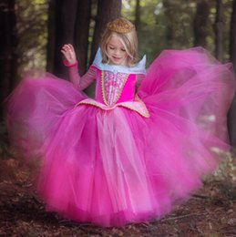 Estate dei capretti dei capretti online-Autumn Summer Girl Dresses Bambini Cartoon Princess Costumi di Halloween Fancy Ball Kids Party Dress Vestiti delle ragazze per la festa di Natale