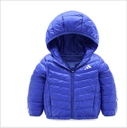 Wholesale jackets for infants boys - AD999 2019 Baby Boys Jacket Winter Jacket For Girls Jacket Kids Warm Hooded Pure Color Infant Boys Coat Children Outerwear Clothes.