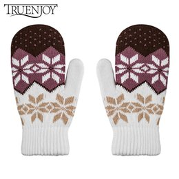 Wholesale Wholesale White Cotton Gloves - TRUENJOY New Arrival Winter Hand Wear Women Gloves Thick Cotton Gloves For Female Hand Girls Mittens For Women Winter Mittens