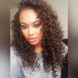 Canada Jolie sexy nouvelle vierge crue vierge non transformée de cheveux humains longue couleur naturelle afro bouclée pleine perruque de dentelle cheap pretty wigs for women Offre