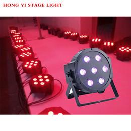Dmx led par cina online-1 pz / lotto Cina dj par slim led par 7x12W RGBW 4IN1 dmx led par luce rgbw Nessun rumore