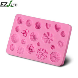 Wholesale Bakery Wedding Cakes - Silicone Mold Cake Mold Lace Mat Fondant Cake Decorating Tools Wedding Flower Heart Bow Embossing Mould Bakery CHW9768