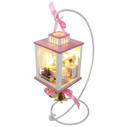 Wholesale stand display for toy - Hoomeda Display Showing Stand Support Frame For DIY Dollhouse M022 M023 Wind Chime Bell Gift Toys