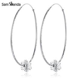 100% 925 Sterling Silber Vintage Hochzeit Blume Hoop Ohrring Mode Ohrringe  Temperamental Frauen Piercing Pendientes Schmuck vintage ohrstecker silber  ... ae0b09e2ec