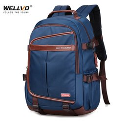 f91ce14b09ba Nylon Laptop Backpack Daily Men Teenage Boys Backpacks New Large School Bag  Vintage Students Travel Shoulder Bags Black XA273WC