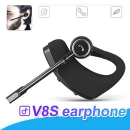 стильный наушник для наушников Скидка V8 V8S Bluetooth-наушники Беспроводные наушники Handsfree Bluetooth-гарнитура V4.1 Legend Стереофонические наушники с регулятором громкости микрофона