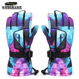 Wholesale Red Climbing Gloves - Men Women Chidren Kids Ski Gloves Snowboard Gloves Motorcycle Winter Skiing Climbing Cycling Waterproof Snow Mittens