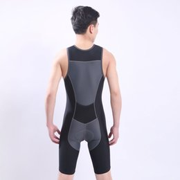 Wholesale Cycling Jersey Skinsuit - Fast Shipping Ironman Triathlon Skinsuit Sleeveless Integrated Suit Swimwear One-piece Cycling Jersey For Training Competition