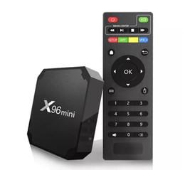 mx tv box quad core Promotion X96 Mini S905W Android TV Box 2 GB 16 GB Quad Core 100 M Lan 2.4 G WiFi 4 K Android 7.1 Berceau 4 K Smart Android TV Box