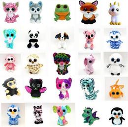 35 Design Ty Beanie Boos Peluche Peluche 15cm Grandi occhi all'ingrosso Animali Morbidi Bambole per Bambini Regali di compleanno giocattoli ty OTH754 da mouse elettrico fornitori