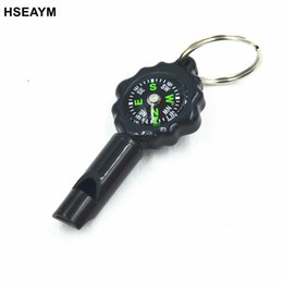 Wholesale handheld compass - HSEAYM Diad Compass 2PCS Whistle Key Buckle Car Camping Hiking Pointing Guide Portable Handheld Compass