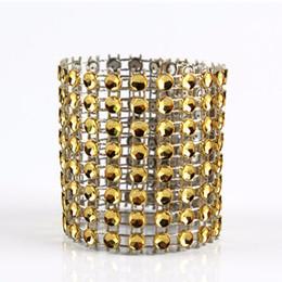 Canada 10pcs diamant anneaux de serviette pour les détenteurs de serviettes de mariage strass chaise écharpes banquet dîner décoration de table de noël Offre
