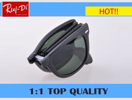 Wholesale Large Frame Fashion Glasses - New Vintage Women Steampunk Oversize Folding Sunglasses Luxury Brand Designer Men Sunglasses UV400 Large G15 glass Lens With Case box 4105
