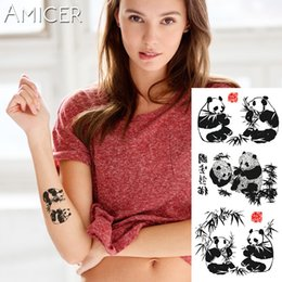04192a3c0f127 1 piece Fantasy Color Chinese painting panda Hot Large animal Temporary  Tattoo Waterproof Tattoo Sticker for women men
