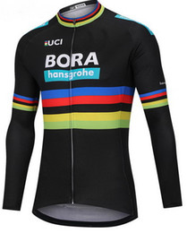 Wholesale long sleeves cycling - WINTER FLEECE THERMAL 2018 BORA PRO TEAM UCI PETER SAGAN 3 COLORS ONLY LONG SLEEVE CYCLING JERSEY SIZE:XS-4XL