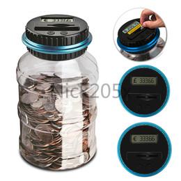 Canada Coin électronique numérique LCD Comptage Comptage Saving Box Jar Coins Boîte De Rangement Pour USD EURO GBP Argent Livraison Gratuite Offre