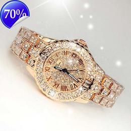 Wholesale Crystals Diamond Rhinestones Watch - 2017 New Women Rhinestone Watches Lady Dress Women watch Diamond Luxury brand Bracelet Wristwatch ladies Crystal Quartz Clocks