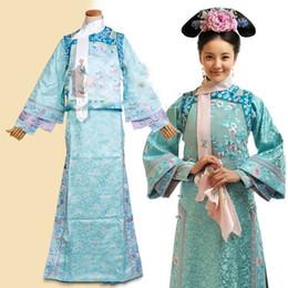Bordado orquídea on-line-Fantasia cor-de-rosa do traje de RuoXi da atriz da orquídea do bordado do traje do Bubujingxin de Qing