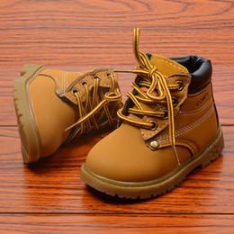 Sapatos para meninas curtas on-line-Crianças Sapatos Casuais Sapatilhas Meninos das Crianças Sapatos Martin Botas Meninas Botas Curtas Botas Amarelas Criança Bebê Criança Sapato