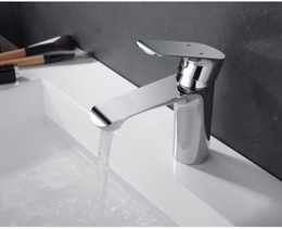 UK Bathroom Faucet Deck Mounted Basin Mixer Faucet Chrome Sink Tap Vanity Hot Cold Water Faucet White Painting Tap Fauce DHgate Mobile