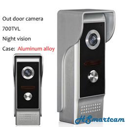 cas système Promotion Nouvelle sécurité à la maison Out porte caméra 700TVL vision nocturne (boîtier en alliage d'aluminium) pour la vidéo interphone sonnette système porte téléphone Bell