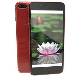Wholesale cheap gold bars - New Red Color Goophone i7 Plus i8 plus Quad Core MTK6580 512M RAM 4GB ROM Android Phone 5.5 Inch 960*540 5MP IPS 3G WCDMA Cheap Cell Phones