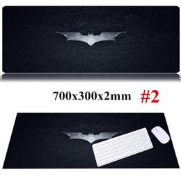 tappetino nero Sconti 700x300x2mm Cool Batman Large Game Mouse Pad Mousemats per computer lunghi e neri