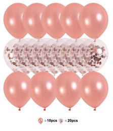 2019 globos de aluminio de aluminio al por mayor Venta caliente 10 pulgadas Rose Gold Latex Kid Globo conjunto para cumpleaños de boda 2.8 g Globos de chatarra Fiesta de alta calidad Globos
