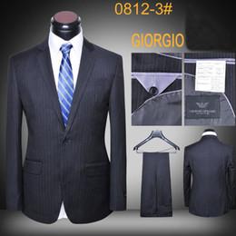 Argentina Traje de chaqueta de lana de lujo con diseño de última capa y pantalones de oficina trajes de marca de los hombres delgados chaquetas de negocios aptos Suministro