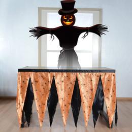 Pano havaí on-line-Saia de Mesa de Halloween Para A Teia de Aranha Fantasma Table Runner Pano De Tabela Havaí Diy Aniversário Wedding Party Decor Decorações HH7-1670