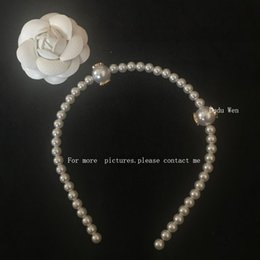 Wholesale Headbands For Kids - 2018 fashion C pearls headband for Ladys collection Item Fashion Hair Accessories head band Pearl with Marks party souvenirs to kids adults