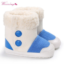 Wholesale Boys Add - Baby Girls Boys Shoes Autumn Winter First Walkers Kids Add Velvet Warm And Warm Children Boots