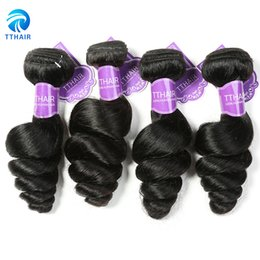 Wholesale Cheap Bulk Weave - TThair Brazilian Vigrin Hair 4 Bundles Loose Wave Human Hair Peruvian Indian Hair Weaves Cheap Silk Nice Wholesale Bulk