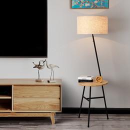 Creative American Nordic Iron en bois lampadaire avec table basse pour salon chambre lit gros H 160 cm 80-265v 1135 ? partir de fabricateur