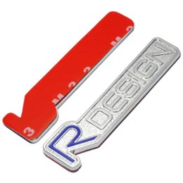 Argentina 3D Metal R DISEÑO RDESIGN Carta Emblema Insignia Etiqueta Engomada Del Coche Car Styling Calcomanía para Volvo XC60 XC90 S60 S80 S40 V40 V60 Suministro
