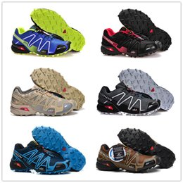 Wholesale nude cotton fabric - Salomon Speed Cross 3 CS III Outdoor Male Camo Red Black Sports Shoes mens Speed Crosspeed 3 running shoes eur 40-46 20 color