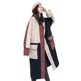 Mode Marine Beige Rose Couture Veste De Laine Femme Long Paragraphe 2017 Nouveau Épaissir Chaud Hiver Femmes Laine Manteau Z49 ? partir de fabricateur
