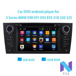 Wholesale 2g Mp4 Player - Android 7.1.2 2 Din 7 Inch car DVD android For 3 Series BMW E90 E91 E92 E93 318 320 325 RAM 2G WIFI GPS Radio