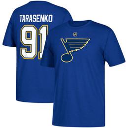 nhl camiseta Desconto 17-18 nova temporada NHL ST. LOUIS AZUL ANÚNCIO 91 Vladimir Tarasenko QUALQUER T-shirt FEITO SOB ENCOMENDA do nome e do número do jogador