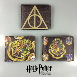 brieftaschen teenager Rabatt Hot Anime Geldbörse Brieftasche Filme Harry Potter gedruckt Leder Dollar Taschen Geschenk Teenager Boy Girl Leder Short Wallets