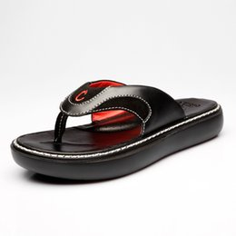 886aabe783cb8 China Brand Men  039 s Flip Flops Genuine Leather Luxury Slippers Beach  Casual Sandals. Brand Men s ...