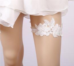 2019 ceintures de mariée en dentelle Mode fleur feuille style Bridal Leg ceinture Élastique dentelle jambe de mariage jarretelles pour les femmes 1pcs couleur blanche promotion ceintures de mariée en dentelle