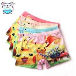 Wholesale girl boxers shorts - Girls Underwear Panties 2017 Brand Kids Girl Underpant Cotton Boxer Children Teenager Shorts For Baby 4 Pcs Set Size 4-12 Years