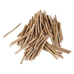 Wholesale Woods Foods - 100pcs 10cm Long 0 .5 -0 .8cm In Diameter Wood Log Sticks Diy Food Wood Crafts Home Garden Decoration Tool