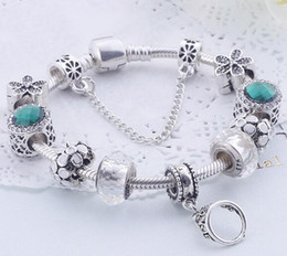 Wholesale anniversary charm bead - 8 Colors Fashion 925 Sterling Silver Daisies Murano Glass&Crystal European Charm Beads Fits Charm bracelets Style Bracelets