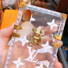 Wholesale paris box - 2018 New Design Luxury Brand Paris Show Phone Case Pattern Print Transparent TPU Case for iphone 6 7 8 X Plus 3D Print Phone Shell with Box