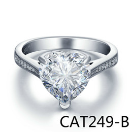 Wholesale S925 Pure Silver - European Top Grade Decoration Product S925 Pure Silver Eight Heart Eight Zirconium Arrow Stone Hand Decorate Love Ring CAT249