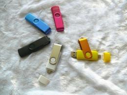 Wholesale Custom Usb Memory Sticks - NEW Swivel Memory Stick Flash OTG Drive Storage USB 2.0 Silver YG 3 Custom LOGO Blister Packaging 32GB 64GB Metal Plastic