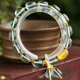кристаллы флюорита оптом Скидка Wholesale JoursNeige Light Green Fluorite Natural Stone Bracelets Bucket  Bracelet for Women Fresh Crystal Bracelet Jewelry