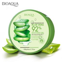vendita calda BIOAQUA gel lenitivo idratante 92% crema viso aloe vera gel cura della pelle 220g spedizione gratuita da gel lenitivo fornitori